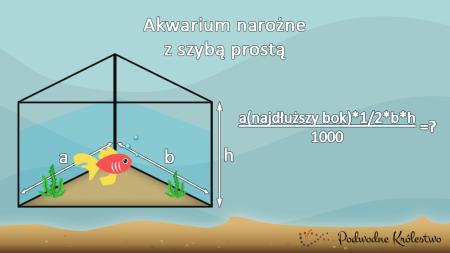 Pojemnośc akwarium narożnego prostego