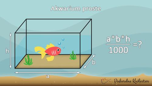 Pojemność akwarium prostego